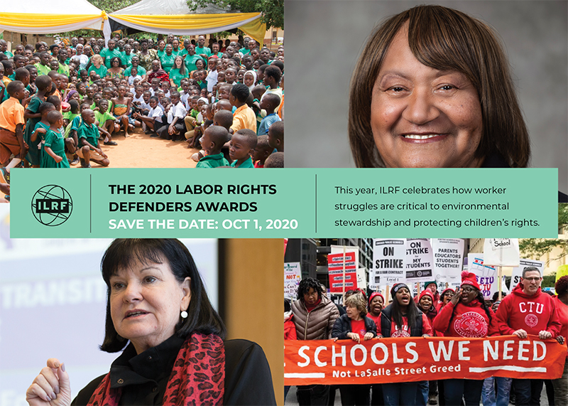 This year, the Labor Rights Defenders Awards will highlight the intersectionality of labor rights, environmental issues, and children's rights.