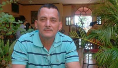 Tomás Membreño Pérez, president of an agricultural workers union in Honduras, has received death threats because of his union work. Credit: Courtesy Tomás Membreño Pérez and Solidarity Center