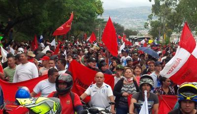 Anti-fraud protest in Honduras. Photo by Giorgio Trucchi.